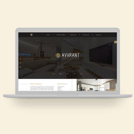avarant sitio web